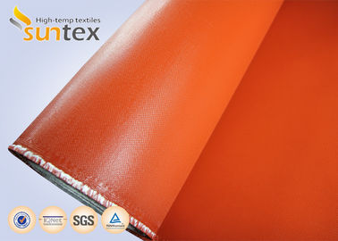 32oz. Both Side Silicone Coated Fiberglass Cloth For Welding Blanket And Flexible Connector