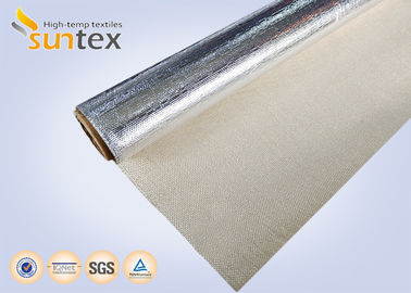 High Temperature Aluminum Foil Fiberglass Fabrics For Welding / Fire Protection And Thermal Insulation Materials