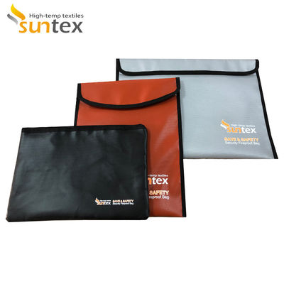 Waterproof Fireproof Document Bag Silicone Coated And Foil Coated Fiberglass Fabric